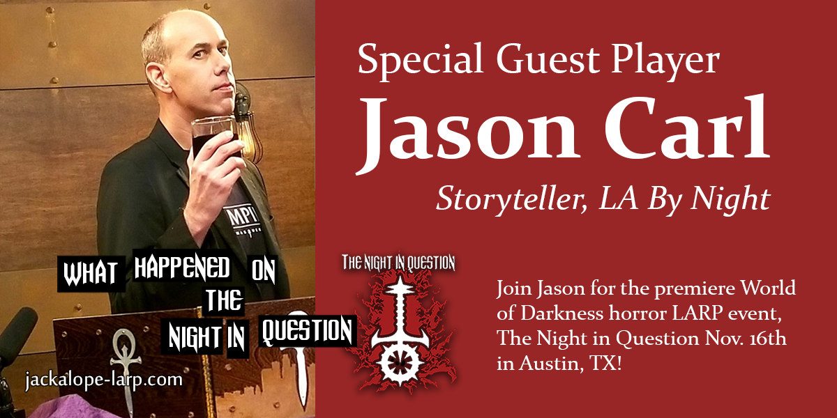 Announcing Special Guest Player, Jason Carl
